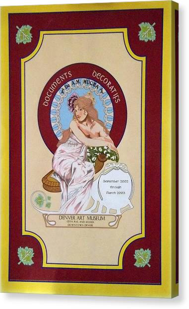 Digital Mucha Canvas Print