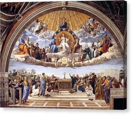 Disputation Of The Eucharist Canvas Print