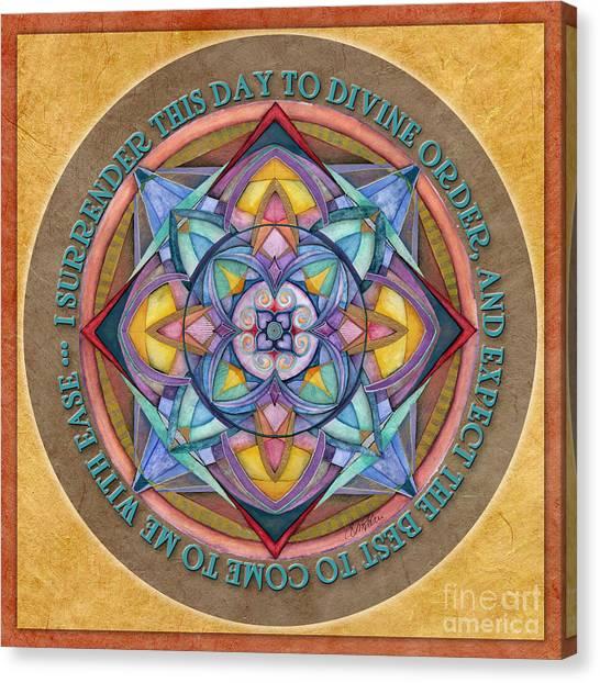 Divine Order Mandala Prayer Canvas Print