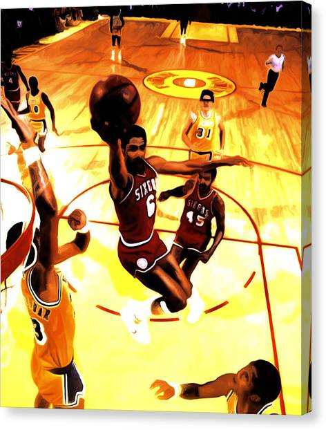 La Lakers Canvas Print - Doctor J by Brian Reaves