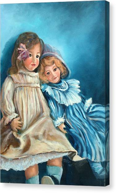 Dolls At Rest Canvas Print by Sally Seago