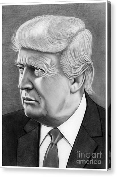 Donald Trump Canvas Print - President Donald Trump by Murphy Elliott