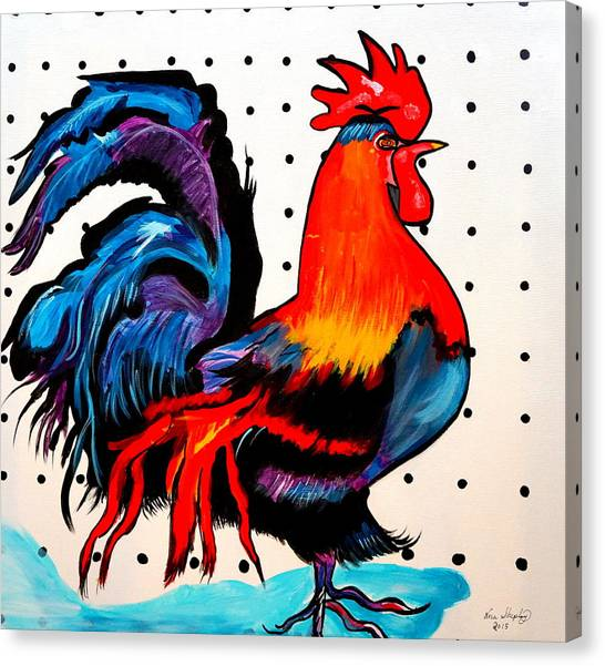 Doodle Do Rooster Canvas Print