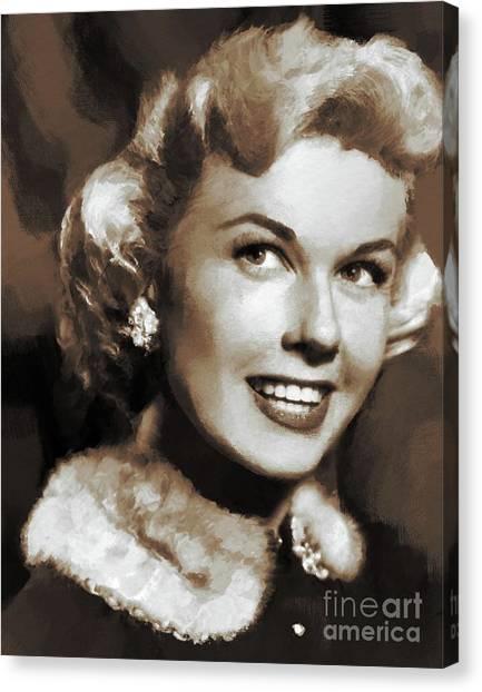 Stardom Canvas Print - Doris Day, Actress by Mary Bassett