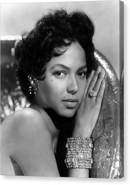 Beauty Mark Canvas Print - Dorothy Dandridge, Circa 1959 by Everett