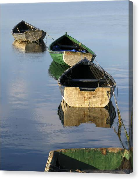 Marinas Canvas Print - Dory Chain by Carolyn Marcotte