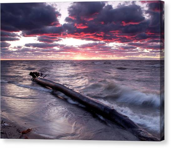 Drama Over Lake Erie Canvas Print
