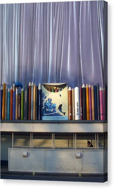 Draw The Curtains Canvas Print by Jez C Self