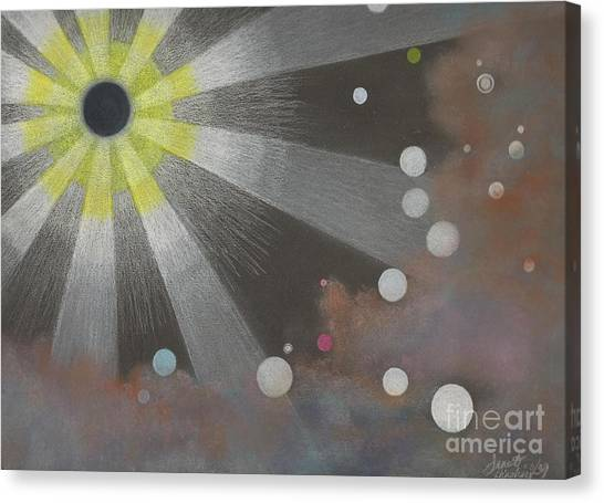 Drawn To The Black Hole Canvas Print by Janet Hinshaw