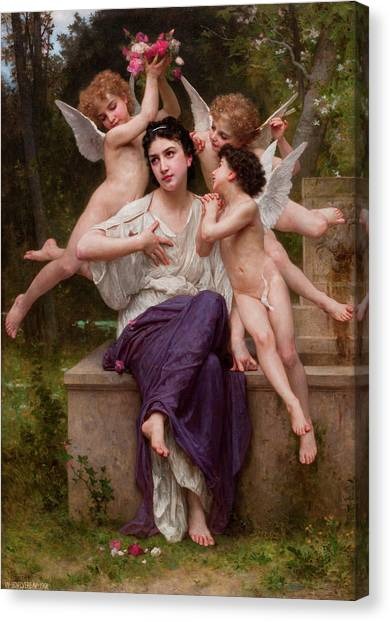 Academic Art Canvas Print - Dream Of Spring by Adolphe William Bouguereau