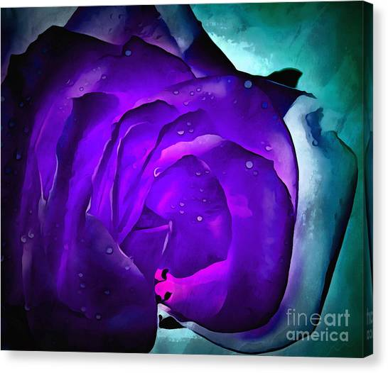 Roses Digital Art Canvas Print - Drift Away by Krissy Katsimbras
