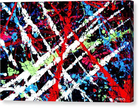 Dripx 9 Canvas Print