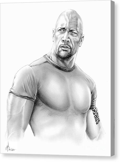 Dwayne Johnson Canvas Print - Dwayne Johnson by Murphy Elliott