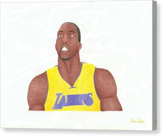 Dwight Howard Canvas Print - Dwight Howard by Toni Jaso