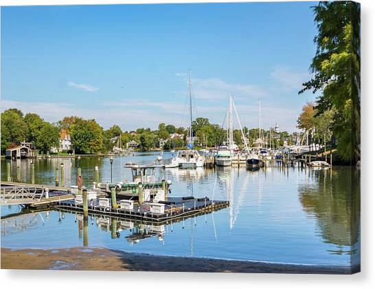 Canvas Print - Early Fall Day On Spa Creek by Charles Kraus