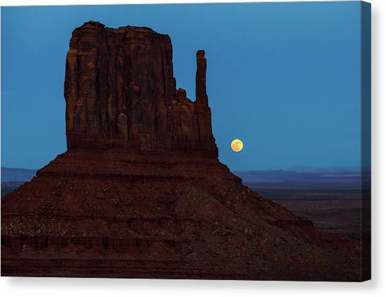 Wolf Moon Canvas Print - Earth And Sky by James Marvin Phelps