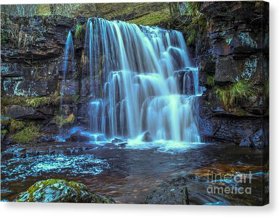 Waterfalls Canvas Print - East Gill Force by Smart Aviation