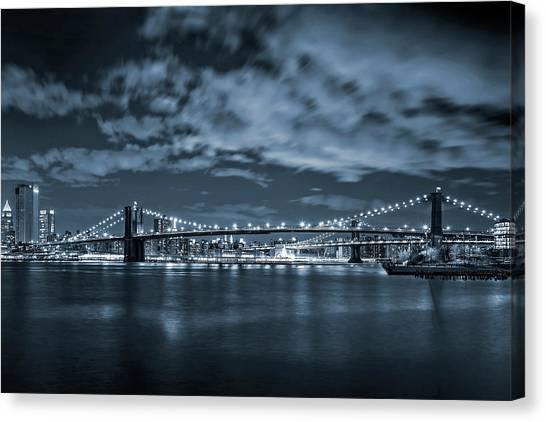 Brooklyn Bridge Canvas Print - East River View by Az Jackson