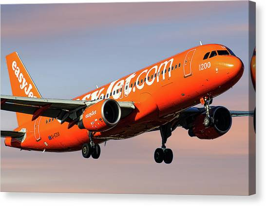 Jet Canvas Print - Easyjet 200th Airbus Livery Airbus A320-214 by Smart Aviation