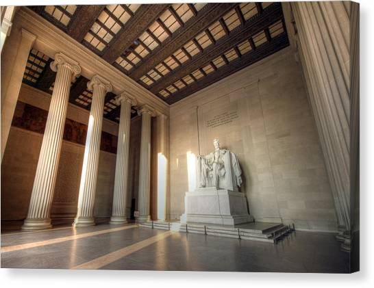 Lincoln Memorial Canvas Print - Echoes Of Liberty by Mitch Cat