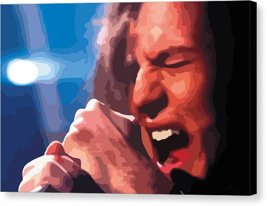 Pearl Jam Canvas Print - Eddie Vedder by Gordon Dean II
