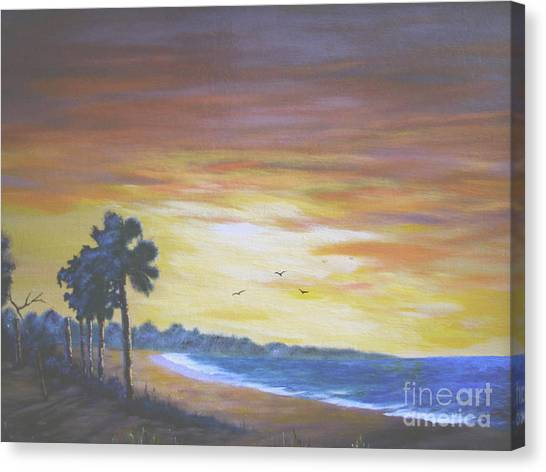 Edisto Sunrise Canvas Print