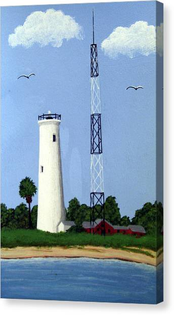Egmont Key Lighthouse Canvas Print by Frederic Kohli