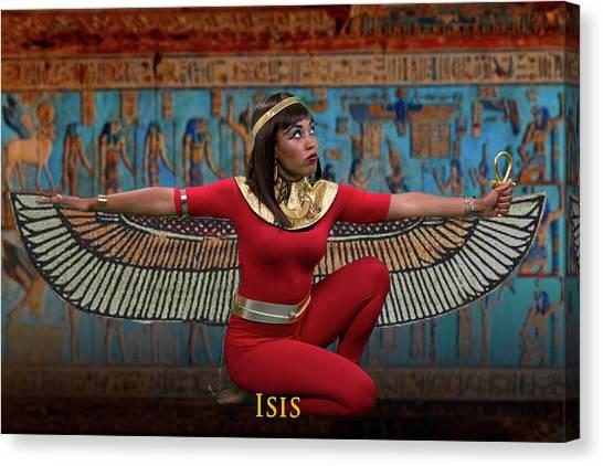 Egyptian Goddess Isis Canvas Print