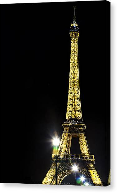 Eiffel At Night Canvas Print by Andrew Soundarajan