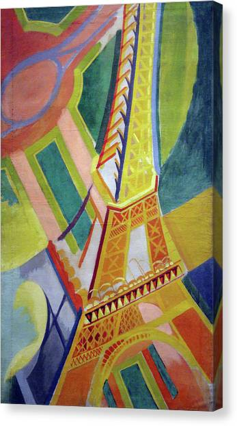 Lyrical Abstraction Canvas Print - Eiffel Tower by Robert Delaunay