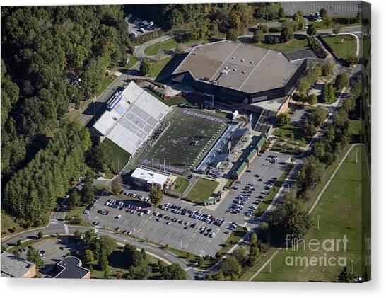 Graduate Degree Canvas Print - E.j. Whitmire Stadium And Ramsey Center At Wcu by David Oppenheimer