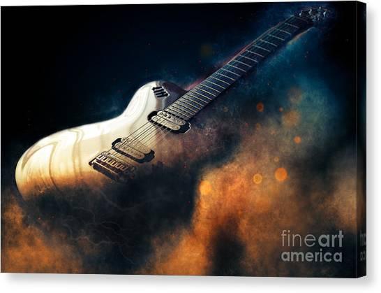Electric Guitar Art Canvas Print
