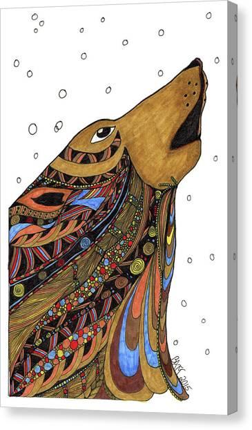 Eli Wolf Canvas Print