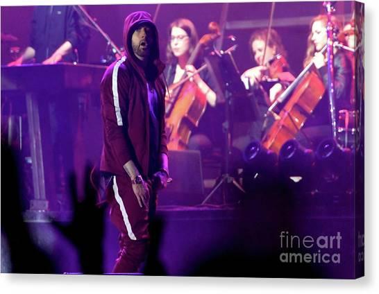 Eminem Canvas Print - Eminem by Concert Photos