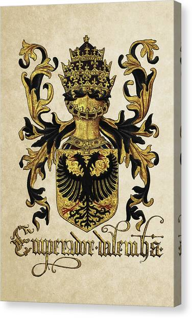 Supplies Canvas Print -  Emperor Of Germany Coat Of Arms - Livro Do Armeiro-mor by Serge Averbukh
