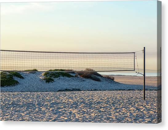 Volleyball Canvas Print - Empty by Joseph S Giacalone
