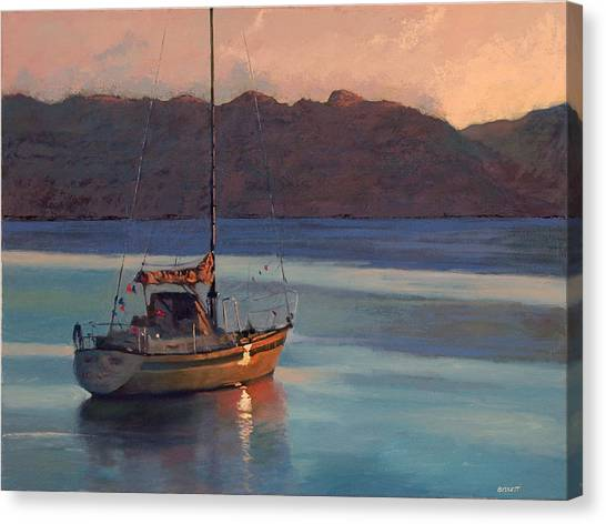 End Of Day Canvas Print by Robert Bissett