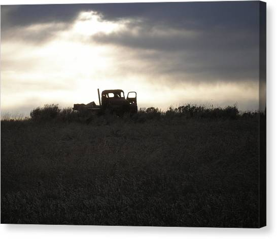 End Of The Road Canvas Print by Shane Hayes