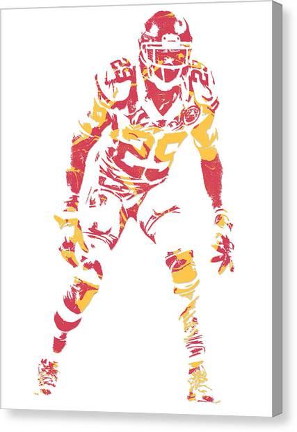 Kansas City Chiefs Canvas Print - Eric Berry Kansas City Chiefs Pixel Art by Joe Hamilton
