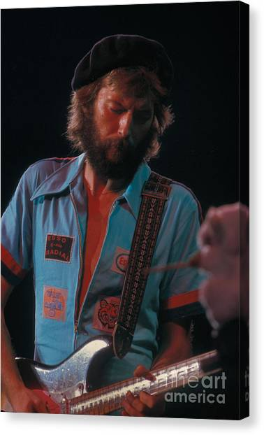 Eric Clapton Canvas Print - Eric Clapton by Marc Bittan