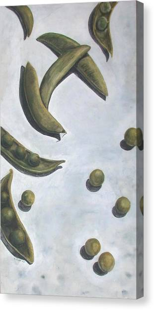 Escaped Peas Canvas Print by Sandy Clift