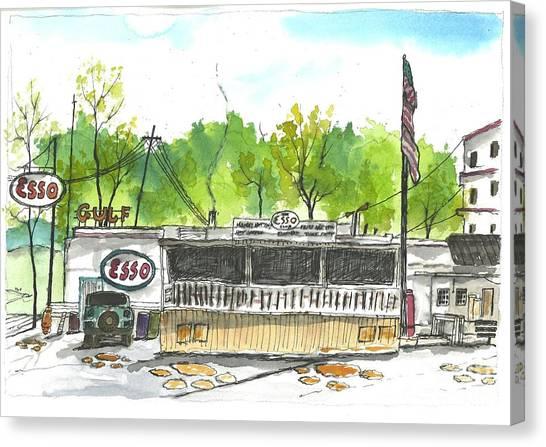 Clemson University Canvas Print - Esso Club Clemson by Patrick Grills