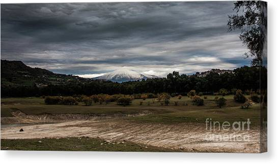 Etna, The West Side Canvas Print
