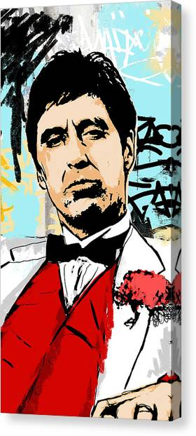 Scarface Canvas Print - Even When I Lie by Canvas Cultures