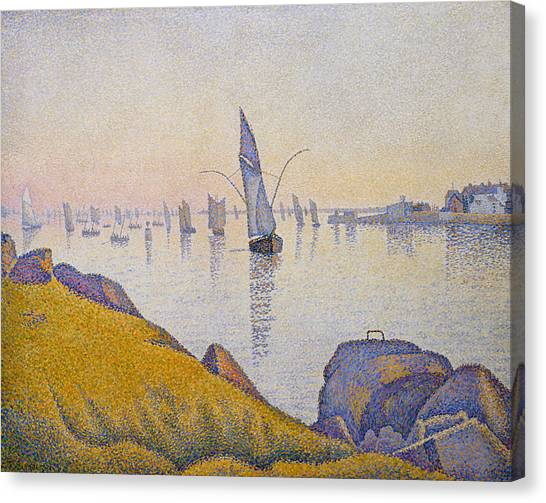 Divisionism Canvas Print - Evening Calm, Concarneau, Opus 220 by Paul Signac