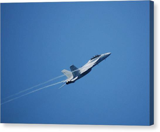 F-18 Hornet Canvas Print by Wayne Higgs