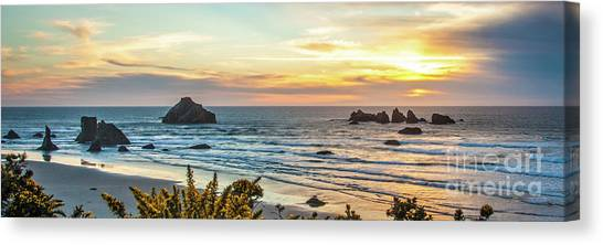 Face Rock At Sunset Canvas Print
