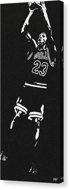 Chicago Bulls Canvas Print - Fade Away by Matthew Formeller