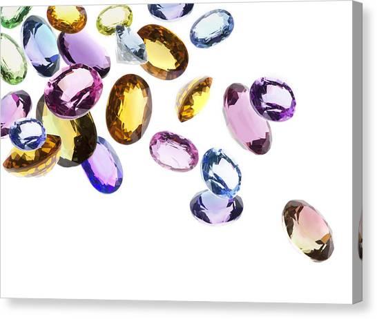 Gemstones Canvas Print - Falling Gems by Setsiri Silapasuwanchai