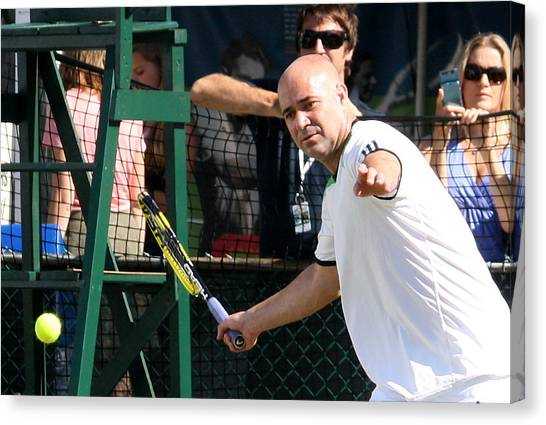 Andre Agassi Canvas Print - Famous Forehand by Annie Babineau